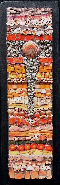 """""""étude en orange"""" from Kath Jones pretty, reminds me of """"our earth"""" mosaic'd."""