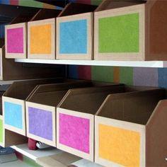 Des casiers de rangement en carton recyclé