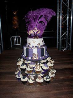 Mossy's Masterpiece - Mel & Ash 21st birthday masquerade cake & cupcakes - Karratha cakes & cupcakes made locally by Mossy by Mossy's Masterpiece cake/cupcake designs, via Flickr