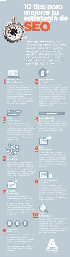 #Infografía: 10 tips para mejorar tu Estrategia de SEO