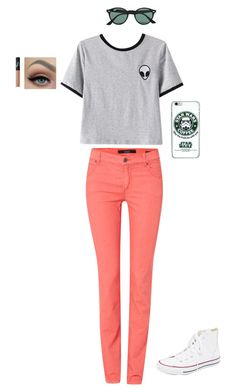 """Untitled #45"" by piperwrite on Polyvore featuring Chicnova Fashion, Oui, Converse, NARS Cosmetics, Ray-Ban, women's clothing, women, female, woman and misses"