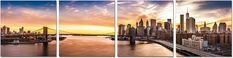 The best view of the city that never sleeps, the J&M Furniture Acrylic Art New York Sunset includes a panoramic vista of New York City and the. New York Cityscape, New York Skyline, New York Sunset, Down The River, Acrylic Wall Art, Acrylic Canvas, Still Photography, Process Art, Hanging Wall Art