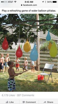 Water balloon piñata a!