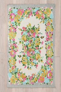 Amelia Rug from Urban Outfitters. Saved to Textiles. Shop more products from Urban Outfitters on Wanelo. Geometric Patterns, Floral Rug, Floral Design, Floral Theme, Urban Outfitters Rug, Funny Welcome Mat, Textiles, My New Room, Throw Rugs