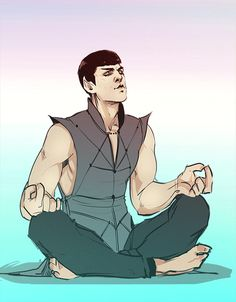 That akward moment when you want meditate, but your best friend is Jim Kirk Now you know how to spell SPOCK in Russian =)