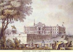 Giacomo Quarenghi. Mikhailovsky Castle. c.1801. Watercolor, ink, pen-and-ink line. 46 x 63.3 cm. The Hermitage, St. Petersburg, Russia