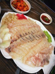 광어 & 우럭 회 (sliced raw fish) @노량진 수산시장