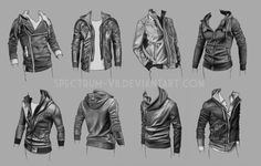 Practice with various military-style jackets, studied from photos.