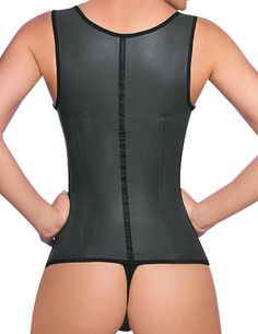 8e2e033a6 Ann Cherry Womens Full Vest Latex Waist Trainer Cincher Faja Girdle Black  -- You can obtain extra information at the picture link.