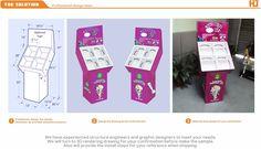 Carton Christmas Tree cardboard display stands / gifts Decoration corrugated floor displays