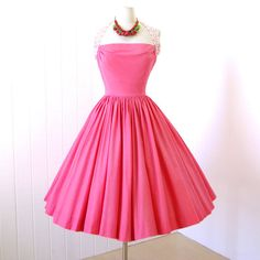 vintage 1950's dress...  fabulous ELAINE TERRY von traven7 auf Etsy