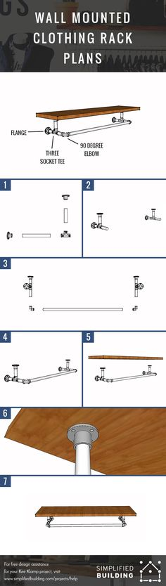 Wall Mounted Clothing Rack Plans