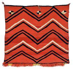// Native American blanket - want to make something like this for David Native American Blanket, Native American Rugs, Native American Beading, American Indians, Textiles, Textile Patterns, Print Patterns, Navajo Weaving, Navajo Rugs