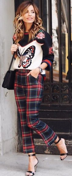 #fall #trending #outfits | Mix Prints