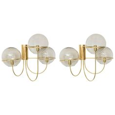 Pair of Mid-Century Modern Wall Sconces Star Leuchten Koeln, Germany 1960s | From a unique collection of antique and modern wall lights and sconces at https://www.1stdibs.com/furniture/lighting/sconces-wall-lights/