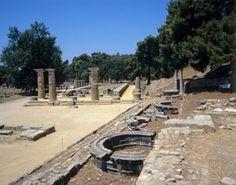 Ruins of Heraion, Olympia, Greece