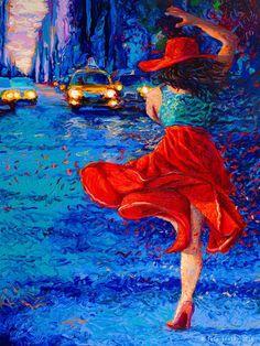 Os quadros impressionistas ultra-coloridos de Iris Scott