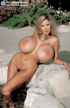 Blonde anna silicone free tits