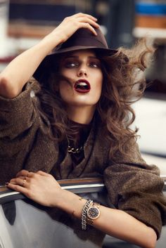 Kendra Spears photographed by Lachlan Bailey in the L'heure du départ editorial for Vogue Paris November 2012.