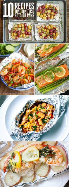 Easy dinners that don't require pots and pans