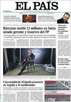 Los Titulares y Portadas de Noticias Destacadas Españolas del 17 de Enero de 2013 del Diario El País ¿Que le parecio esta Portada de este Diario Español?