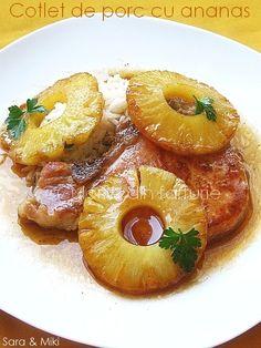 Culorile din farfurie: Cotlet de porc cu ananas