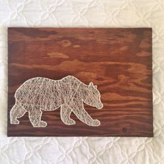 Bear String Art by TheGeneralCollective on Etsy