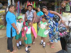 This group of happy campers was sighted on a sidewalk in Anamaduwa, Sri Lanka. David Stanley, Happy Campers, Sri Lanka, Lily Pulitzer, National Parks, Sidewalk, Group, Dresses, Fashion