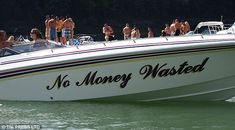 Meanwhile, the owner of this yacht is making a not so subtle boast with the name of his vessl Clever Boat Names, Funny Boat Names, Best Entrepreneur Quotes, Big Deck, Boat Humor, Boat Wraps, Ship Names, Pirates Of The Caribbean, Puns