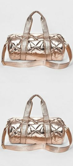 In shiny rose gold, this weekender bag is great for your daily trips to  the gym or long weekends away from home. With a spacious main  compartment and several interior pockets, you don't need to leave  anything behind and it can all stay organized.      #giftideas #holidaygifts #ad #shopping #giftsforher #GiftsForWomen  #giftsforhim #giftsforgrandparents #giftsforteens #giftsforkids (scheduled via http://www.tailwindapp.com?utm_source=pinterest&utm_medium=twpin)