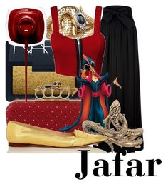 Jafar by mitomana on Polyvore featuring polyvore, fashion, style, Lanvin, Kate Spade, Alexander McQueen, Wildfox, NARS Cosmetics, Roberto Cavalli, clothing, disney, aladdin and Jafar