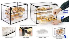 Bakery Display Case, Pastry Display, Bread Display, Display Cases, Coffee Carts, Coffee Shop, School Bus House, Condiment Holder, Fine China Dinnerware