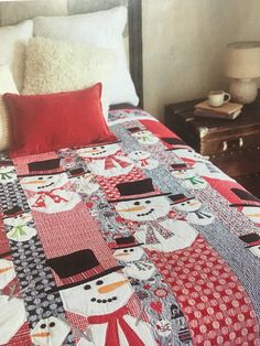 Christmas Quilt Patterns, Christmas Sewing, Christmas Quilting, Christmas Present Quilt, Christmas Presents, Christmas Decorations, Quilt Block Patterns, Quilt Blocks, Snowman Party