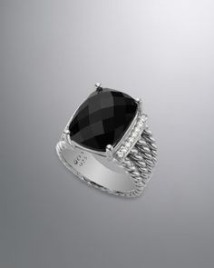 Wheaton+Ring+with+Black+Onyx+and+Diamonds+by+David+Yurman+at+Neiman+Marcus.