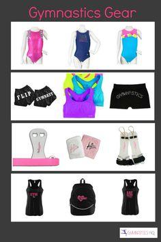 Gymnastics Gear- Leotards, sports bras, shorts, grips, gym rat clothes #gymrat