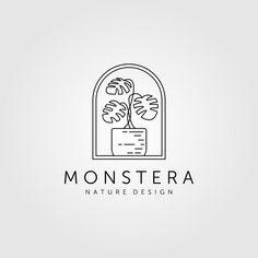 Web Design Studio, Logo Design, Twin Tattoos, Logos, Line Art, Vector Free, Minimalist, Plant, Logo