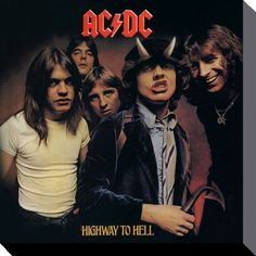 ACDC - Highway to Hell - Canvas Print 40 x 40 cm