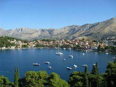 Panoramic view of Cavtat, Croatia