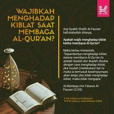 Wajibkah menghadap kiblat saat membaca Al-Qur'an. Quran Quotes, Qoutes, Life Quotes, Muslim Quotes, Islamic Quotes, Islamic Information, Islamic Prayer, Learn Islam, Islamic Wallpaper