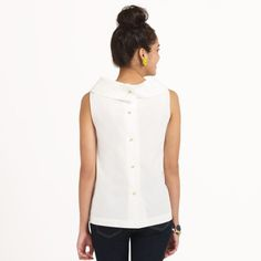 buttons down the back...completely cute - completely impractical!