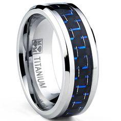 <li>Men's carbon fiber titanium ring</li><li>Titanium jewelry</li><li><a href='http://www.overstock.com/downloads/pdf/2010_RingSizing.pdf'><span class='links'>Click here for ring sizing guide</span></a></li>