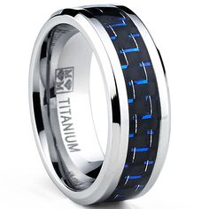 <li>Men's carbon fiber titanium ring</li><li>Titanium jewelry</li><li><a href='http://www.overstock.com/downloads/pdf/2010_RingSizing.pdf'><span class='links'>Click here for ring sizing guide</span></a></li>