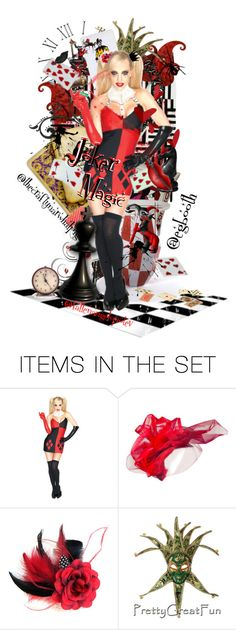 """Some joker magic"" by purplez ❤ liked on Polyvore featuring art"