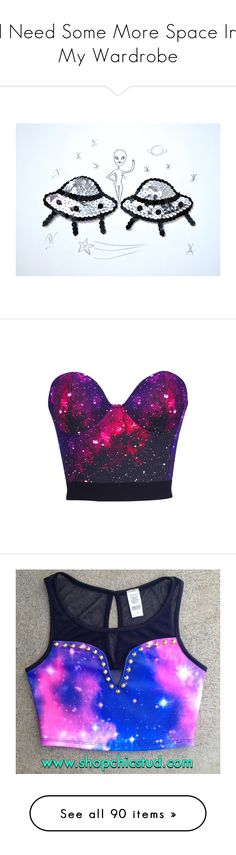 """""""I Need Some More Space In My Wardrobe"""" by lunabones ❤ liked on Polyvore featuring intimates, lingerie, pasties & tassels, silver, women's clothing, retro lingerie, sexy lingerie, tops, shirts and crop tops"""