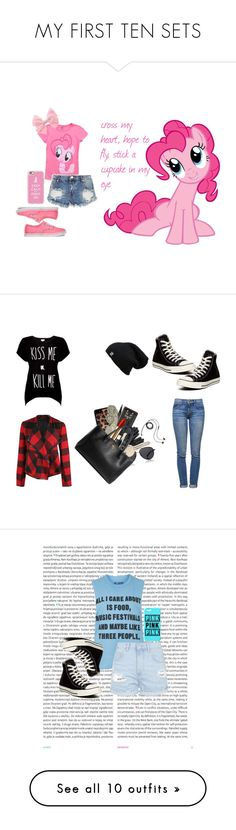 """""""MY FIRST TEN SETS"""" by daponypinkie ❤ liked on Polyvore featuring My Little Pony, OneTeaspoon, Vans, Casetify, Rotten Roach, Current/Elliott, Converse, Dex, Bobbi Brown Cosmetics and Banana Republic"""
