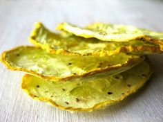 Summer Squash Chips.  I will make mine in the dehydrater though.
