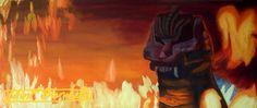 King of all Monsters. Oil Painting by John Paul Blanchette $1000 Easily purchase prints here: john-paul-blanche... Fire, Monster art, Fire art, Fantasy