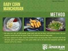 Quick Bite- Baby corn manchurian.