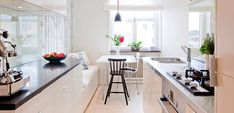 Kitchen Organisation, Cupboard, Light Fixtures, Kitchen Design, Flooring, Table, Furniture, Buenas Ideas, Home Decor