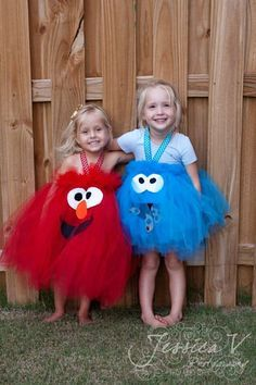 88 of the Best DIY No-Sew Tutu Costumes - Elmo and Cookie Monster